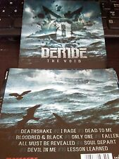 DERIDE CD - The Void  2012  BRUTAL THRASH METAL / METALCORE