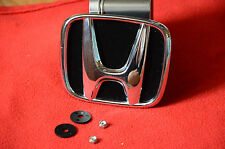 honda accord odyssey crosstour civic cr-v prelude fit emblem plate mesh grille