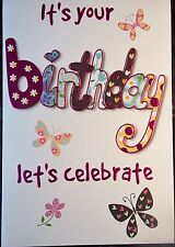 Female Birthday card by Eclipse cards, 35 available - multi listing