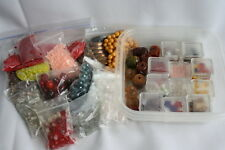 Bead Lot of  Jewelry Glass Seed Making Loose Beads Several Size Colors & Kinds