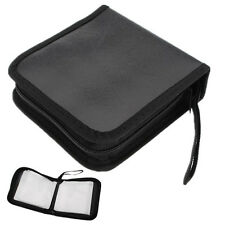 Leather&Nylon 40 Disc CD DVD Storage Case Wallet Holder Organizer Bag DJ Carrier