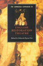 The Cambridge Companion to English Restoration Theatre (Cambridge Comp-ExLibrary