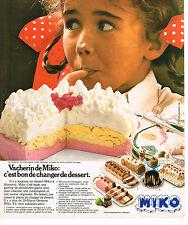 PUBLICITE ADVERTISING 064  1976  MIKO     glaces  LE VACHERIN