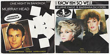 "ABBA CHESS LOT OF 2 SINGLES 7"" FRANCE ONE NIGHT IN BANGKOK & I KNOW HIM SO WELL"