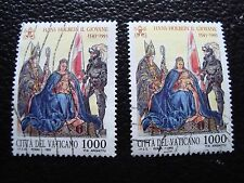 VATICAN - timbre yvert et tellier n° 967 x2 obl (A28) stamp (A)