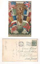 Cartolina Omaggio Soc. Anonima Forniture Elettriche Milano ai Combattenti VG1918
