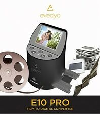 Evedyo E10 PRO Film to Digital Converter (7-in-1) - Slide Scanner Converts 8mm