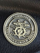 Authentic Dept. of the Navy, Amphibious Group Three, Commander's Coin  #180