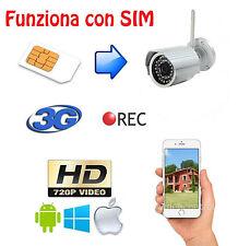 Telecamera UMTS 3G da esterno, funziona con tutte le SIM, nessuna configurazione