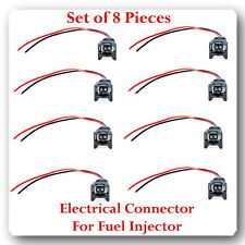 Set of 8 Kit Electrical Connector for Fuel Injector Fits: FORD LINCOLN MERCURY