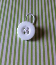 Waist extender button/pregnancy/maternity/post surgery ,1 BUTTON 18mm. White
