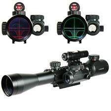 3-9X40 illuminated Tactical Rifle Scope w/ Red Laser & Holographic Dot Sight HQ