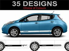 nissan leaf side stripes decals stickers graphics both side