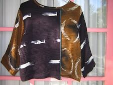 SHEKINA FORMS Art to Wear SILK  hand painted top blouse Size S-M
