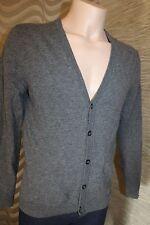 Luxus 100% Schurwolle Pullover Strickjacke Cardigan von ESPRIT Gr. S grau