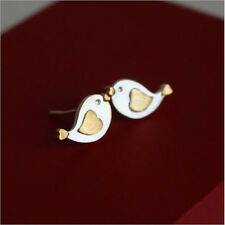 1Pair Women Small Bird Earrings Cute Animal Silver Ear Studs  Earrings Jewelry