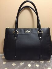 Kate Spade Teegan Berkshire Road Black Leather Handbag NWT $398 Dustbag Included