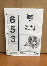 Bobcat 653 Skid Steer Service Manual Shop Repair Book Part 6724493