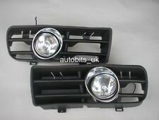 FRONT FOG LIGHTS LAMPS GRILLS L&R FOR VW GOLF 4 MK4 IV 1997-2006 NEW
