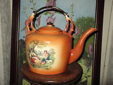 Large Vintage decorated  KLM staffordshire pottery kettle