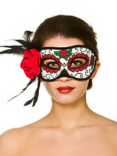 Halloween Mexican Zombie Skull Candy Day Of The Dead Fancy Dress Half Mask New