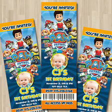 Paw Patrol Custom Ticket Party Invitation