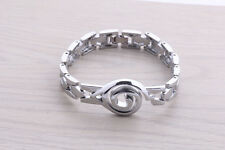 Watch chain style alloy metal bracelet of anime Naruto Konoha mark silver color!