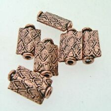 Copper Rectangular Arrow Bead ( Set of 10 ) Antiqued