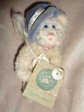 Cat White Boyds 1985-98 Claudine De La Plumtete Blue Hat Stuffed Plush Bean Bag