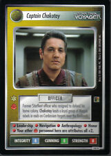 STAR TREK CCG THE BORG RARE CARD CAPTAIN CHAKOTAY