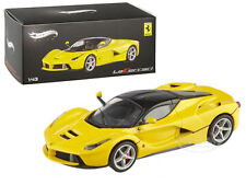 FERRARI LAFERRARI F70 HYBRID ELITE YELLOW 1/43 DIECAST MODEL CAR HOTWHEELS BCT85