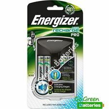 Energizer Pro Charger with 4x AA 2000 mAh Rechargeable Batteries. For AAA and AA