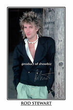 ROD STEWART - LARGE -  AUTOGRAPH SIGNED POSTER PRINT PHOTO  - LOOKS GREAT FRAMED