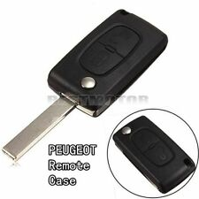 For PEUGEOT 207 307 308 Black 2 Buttons Remote Flip Key Shell Cases Fob