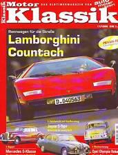 Motor Klassik 11/98 Countach/Mercedes S Klasse W186/W112/W126/Audi 80 GTE/1998