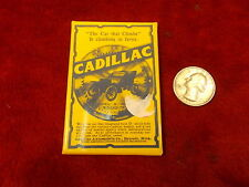 "NEAT OLD VTG ANTIQUE? ADVERTISEMENT MIRROR FOR CADILLAC ""THE CAR THAT CLIMBS"""