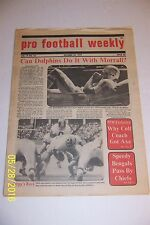 1972 PRO FOOTBALL Weekly MIAMI Dolphins BOB GRIESE No Label 5-0 Griese Out 6 wks