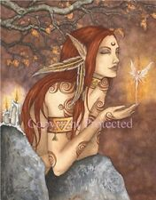 Amy Brown Autumn Magic Forest Fairy Greeting Card NEW