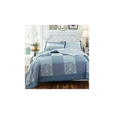 Unbranded Kd Spain Horizons Bedding Quilt Set Full/ Queen Blue