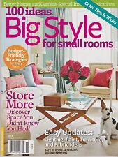 100 IDEAS BIG STYLE FOR SMALL ROOMS Magazine 2014, Store More Discover Space.