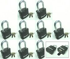 Lock Set by Master M115KALF (Lot 9) KEYED ALIKE Carbide Shackle Weather Sealed