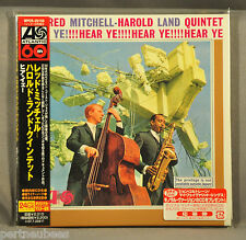 RED MITCHELL-HAROLD LAND QUINT. Hear Ye! JAPAN '07 Ltd Mini LP CD OBI WPCR-25159