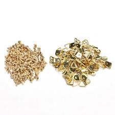 100X Picture Frame Hanging Triangle D Rings Frames Hanger Hooks with Gold Screws