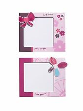 Sauthon Baby Deco - Set of Two Picture Frames Collection Bows Hanaé NEW