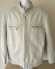 OSINEN Men's Beige Jacket Windbreaker Chinese Brand Sz XL 190/104A
