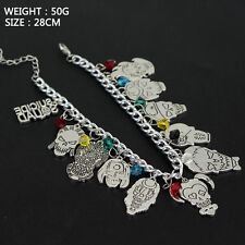 Suicide Squad Harley Quinn Silvertone Metal Charm Bracelet Themed Charms Badge
