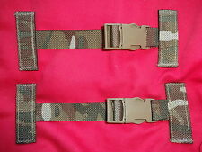 British Army Osprey Molle Pack of 2x T Bar Slide Clips / Straps - MTP - Grade 1