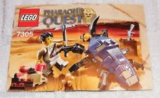 2011 LEGO Pharaoh's Quest Scarab Attack 7305 Instruction Manual