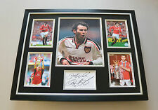 Ryan Giggs Signed Photo Large Framed Autograph Display Man Utd Memorabilia + COA