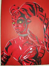 Canvas Painting Star Wars Darth Talon Red C Art 16x12 inch Acrylic